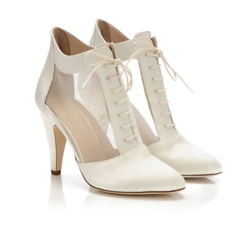 For a more vintage inspired sensibility (and if you're wearing something, perhaps, lacier and shorter), try these retro mesh lace-up booties. It reminds of us an old school Americana chic. Loeffler Randall Georgia Mesh Lace-Up Bootie ($495)