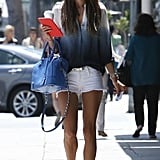 Alessandra Ambrosio walked down the street in LA.