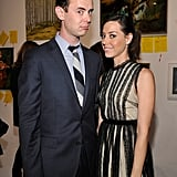 Colin Hanks and Aubrey Plaza pose for a photo together.