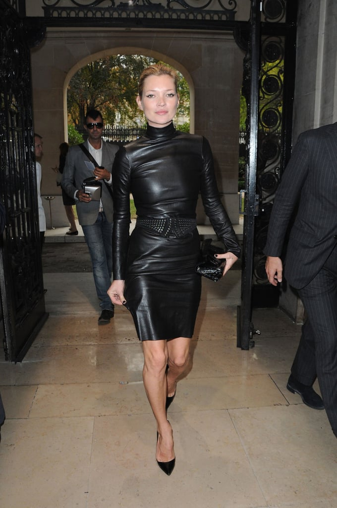Does It Get Any Sexier Than This High Necked Leather Dress