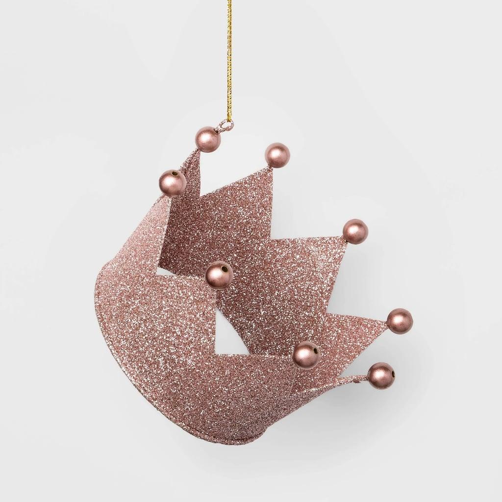 Glitter Crown Christmas Ornament In Rose Gold Best Target Christmas Decorations 2019 Popsugar Home Australia Photo 43