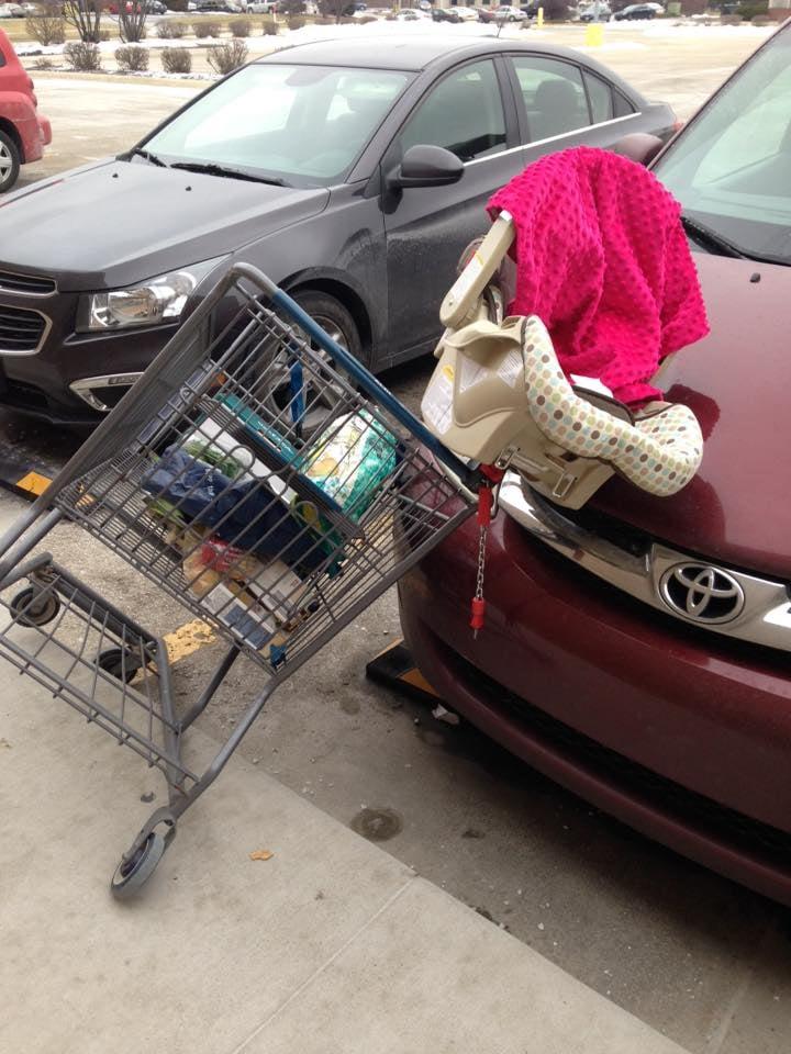 Car Seat in Shopping Cart Warning | POPSUGAR Moms