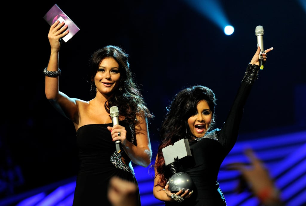 J Woww and Snooki cheered for Katy Perry.