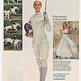 A carefree girl multitasks. She can fence, think about riding her horse, and plan her wedding while having her period.