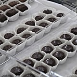 Every table at the Salon, it seemed, was covered by rows and rows of beautiful chocolates.