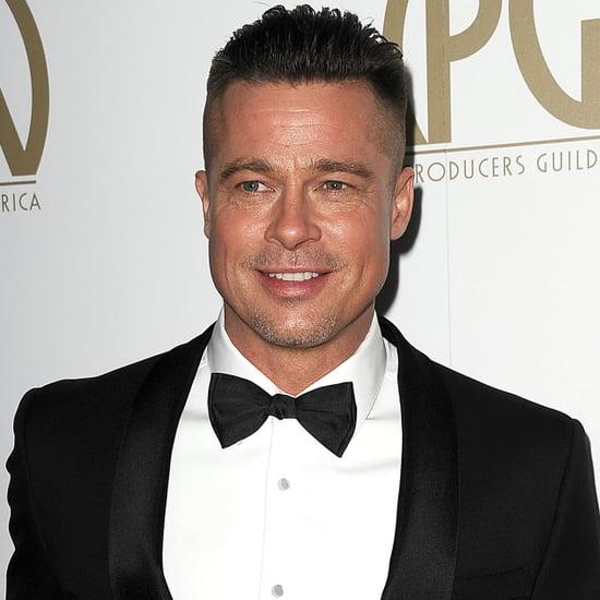 Brad Pitt's Haircut Looks Like Macklemore's