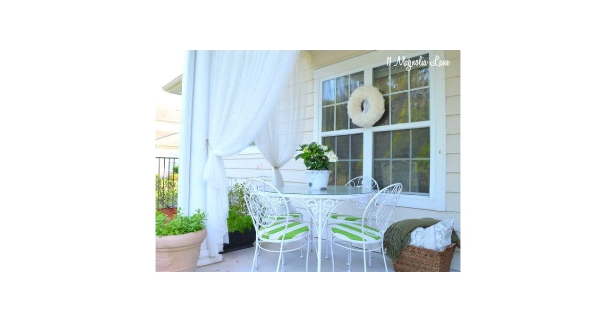 ikea curtains how to add privacy to your backyard popsugar home photo 3. Black Bedroom Furniture Sets. Home Design Ideas