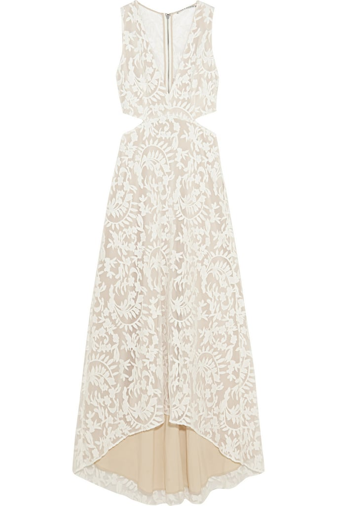 Alice + Olivia Juelia cutout embroidered tulle dress ($485)