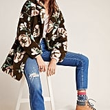 Olivia Floral Teddy Coat