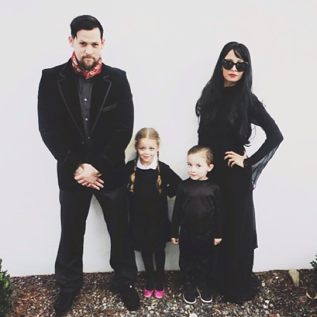 Nicole Richie, Joel Madden, and their kids Harlow and Sparrow channeled the Addams Family. Source: Instagram user nicolerichie