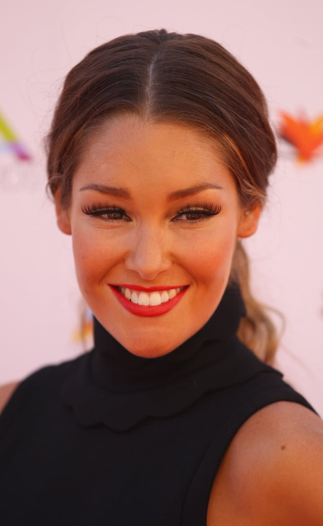 Erin McNaught took up the Miu Miu flag too, in a high necked black ensemble.
