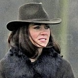 Kate Middleton rocked a hat in London.