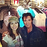 Victoria Justice met an Elvis impersonator in a Memphis, TN, gift shop. Source: Instagram user victoriajustice