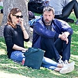 Jennifer Garner and Ben Affleck at the Park in LA June 2018