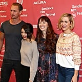 Alexander Skarsgard, Bel Powley, director Marielle Heller, and Kristen Wiig attended the premiere of The Diary of a Teenage Girl together.