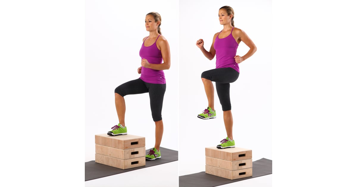 Chair Step Ups 7 Minute Hiit Workout Popsugar Fitness