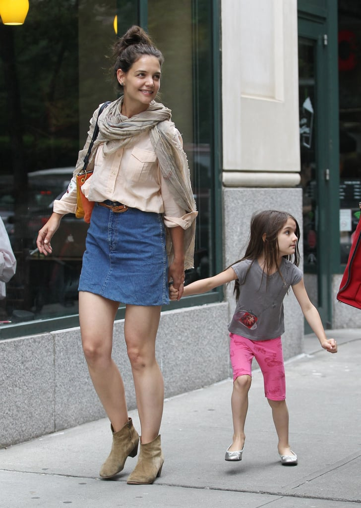 Katie Holmes and Suri Cruise took a walk through the NYC