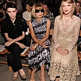 Rooney Mara and Taylor Swift sat alongside Anna Wintour at Rodarte.