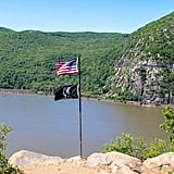 Once your eyes make contact with the flags up top, you will find some of the best views in all of the Hudson Valley. This is also a great spot for a picnic, as you can't really ask for a more picturesque backdrop.