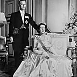 Princess Elizabeth and Prince Philip sat for a portrait on their wedding day in 1947.