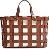 Trademark Frances Cage Leather & Canvas Tote