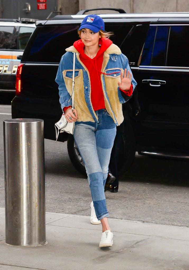 Gigi Hadid's Patchwork Jeans