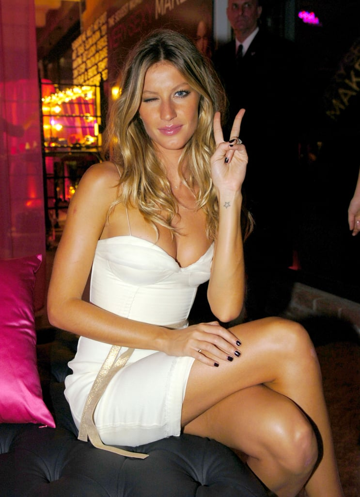 The tiny star on Gisele's wrist is said to represent her grandmother.