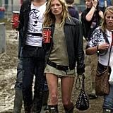 Kate Moss at Glastonbury 2005