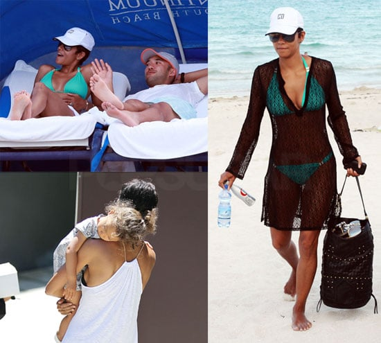Pictures of Halle Berry in a Bikini in Miami with Nahla