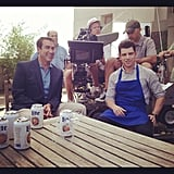 I can't wait to see Rob Riggle hanging out with Schmidt on New Girl! Source: Instagram user lamorne