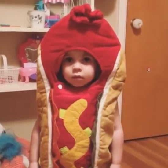 Girl Wears Hot Dog Costume to Bed