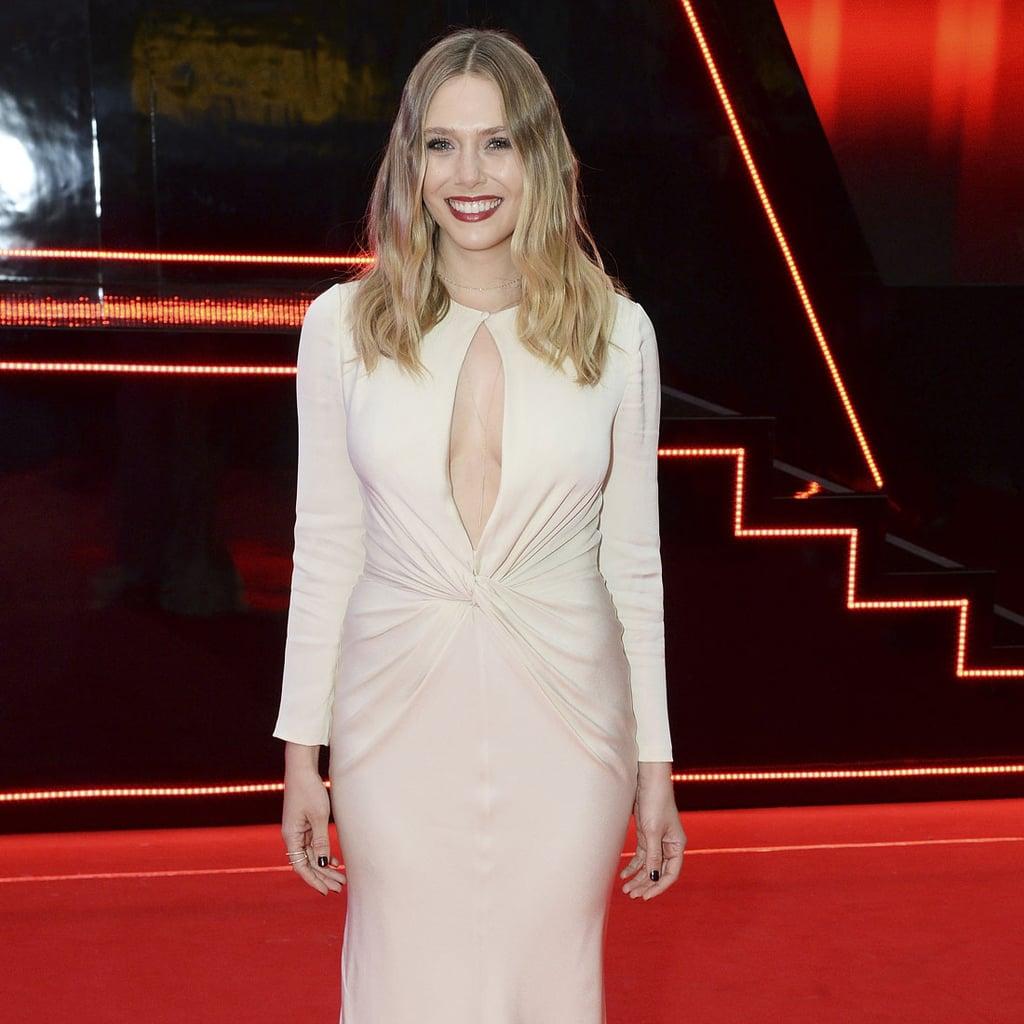Elizabeth Olsen's Alexander McQueen Dress at Captain America