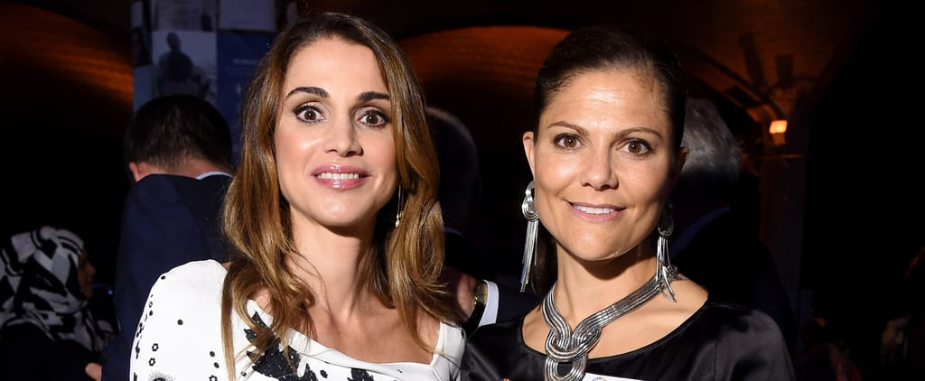 Queen Rania and Princess Victoria Have Such Similar Tastes, They Showed Up to an Event in Matching Outfits