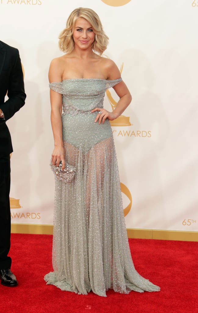 Julianne Hough went saucy in an off-the-shoulder and supersheer Jenny Packham dress. She picked David Yurman as the finishing touch.