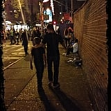 Joaquin and Michael Consuelos walked arm in arm to the San Gennaro festival in NYC. Source: Twitter user KellyRipa