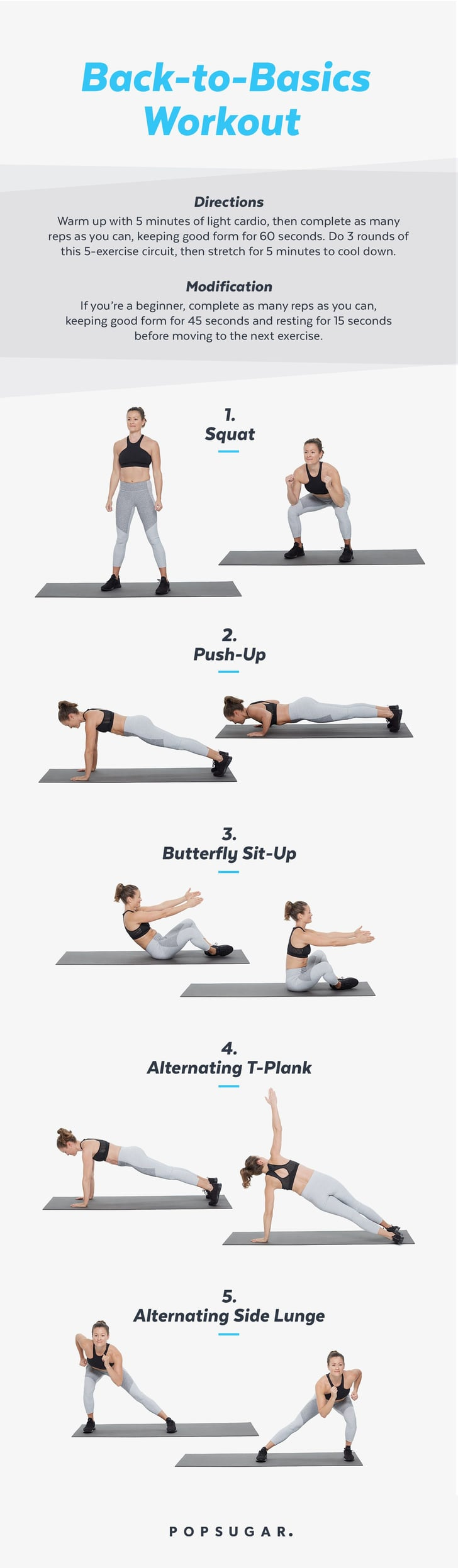 image relating to Printable Workouts Pdf titled Printable Workout routines POPSUGAR Physical fitness