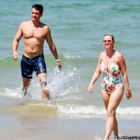 Katy Perry and Orlando Bloom on Beach in France July 2019