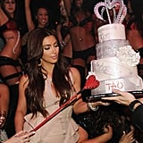 Kim Kardashian got naughty with her bachelorette cake.