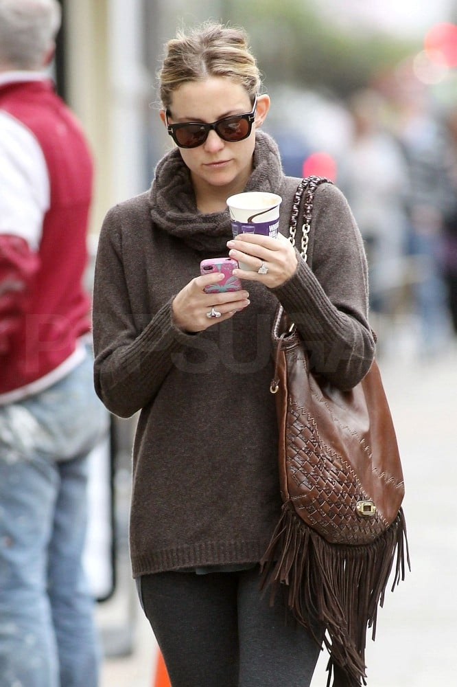 Kate Hudson went for a walk.