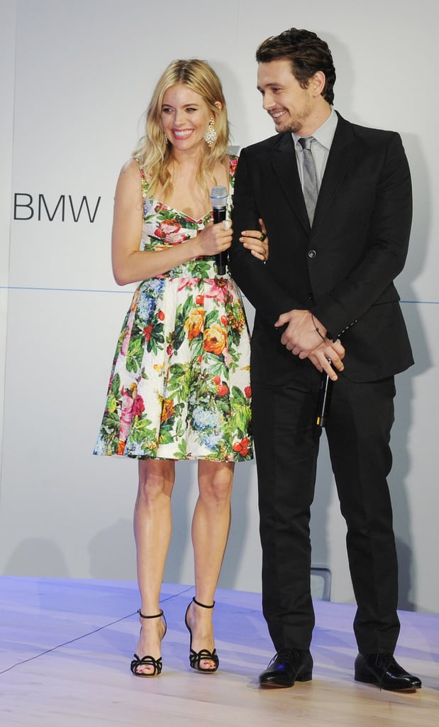 James Franco and Sienna Miller chatted during the event.