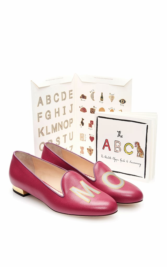 We'll never say no to a little extra fun — especially when it comes by way of these adorable customizable Charlotte Olympia calf-leather ABC flats ($695).