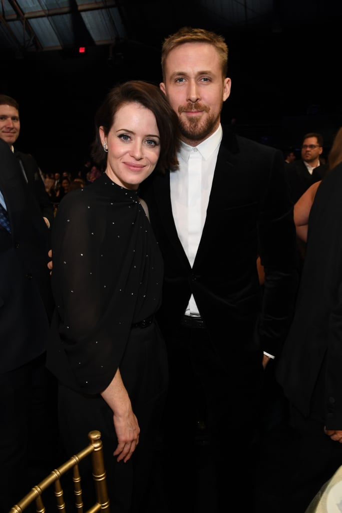Pictured: Claire Foy and Ryan Gosling