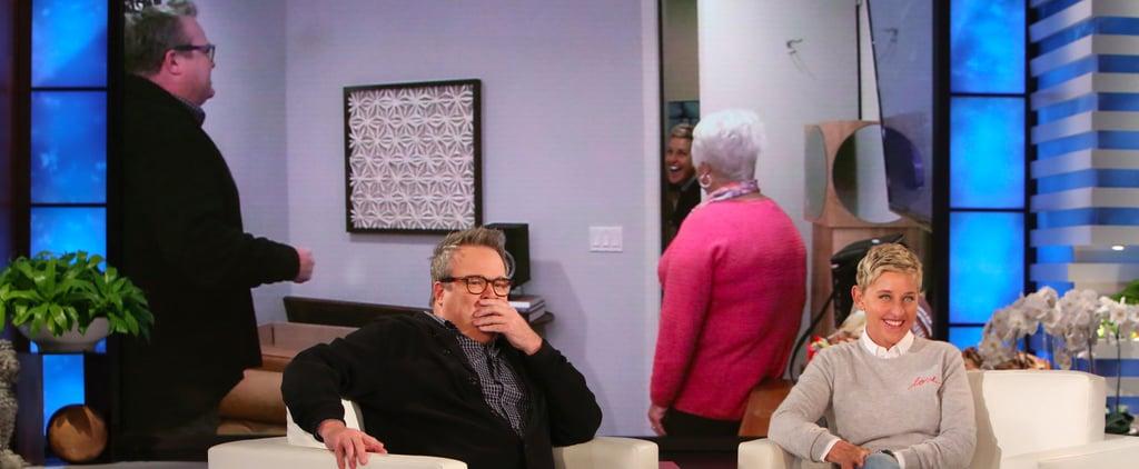 Ellen DeGeneres Scaring Eric Stonestreet Video 2017