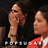 Victoria Beckham at Lakers game.