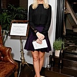 In New York, Misha Nonoo dined with Krug in sleek separates.
