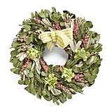 "22"" Floral and Leaves Wreath ($40)"