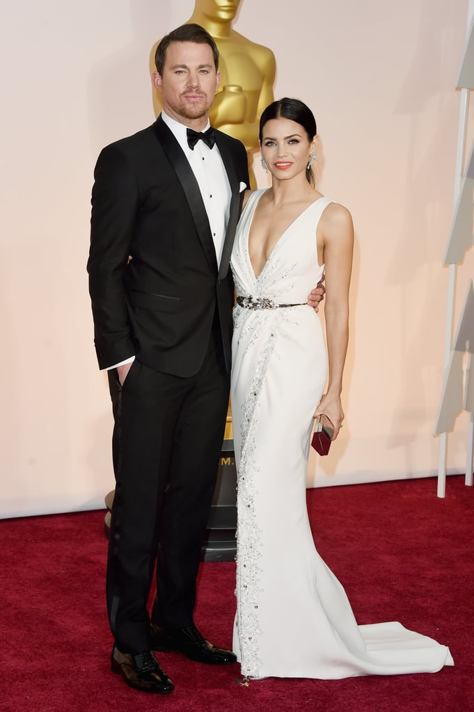Celebrity couples at the oscars 2015 pictures popsugar celebrity channing and jenna dewan tatum sciox Gallery