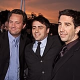 The guys of Friends — Matthew Perry, Matt LeBlanc, and David Schwimmer — arrived together at the People's Choice Awards in 2002.