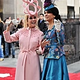 Kathy Lee Gifford dressed as Princess Beatrice with Hoda Kotb dressed as Princess Eugenie!
