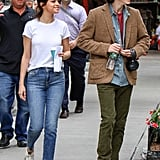 Selena Gomez on Woody Allen Movie Set September 2017